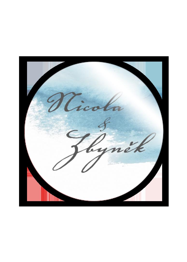 Svatební magnetka - Aquarelle