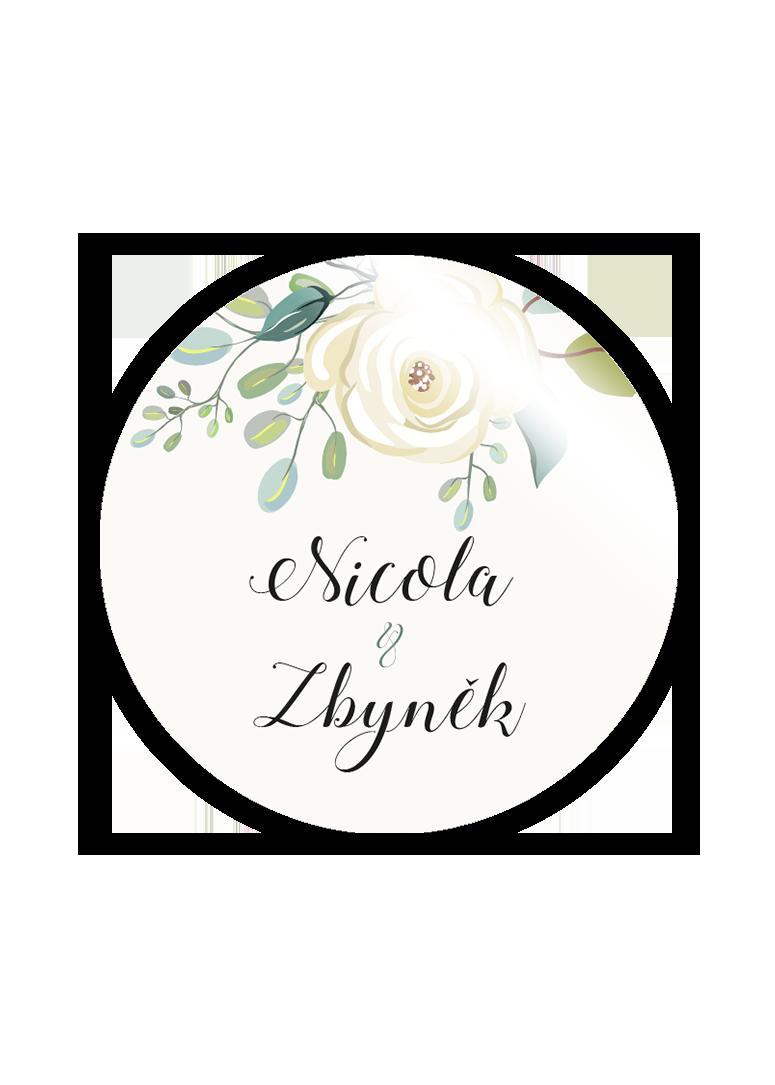 Svatební magnetka - Floral