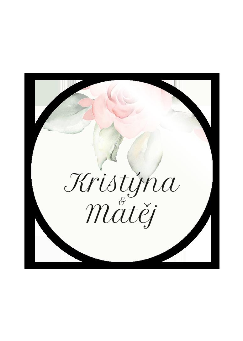 Svatební magnetka - Rose