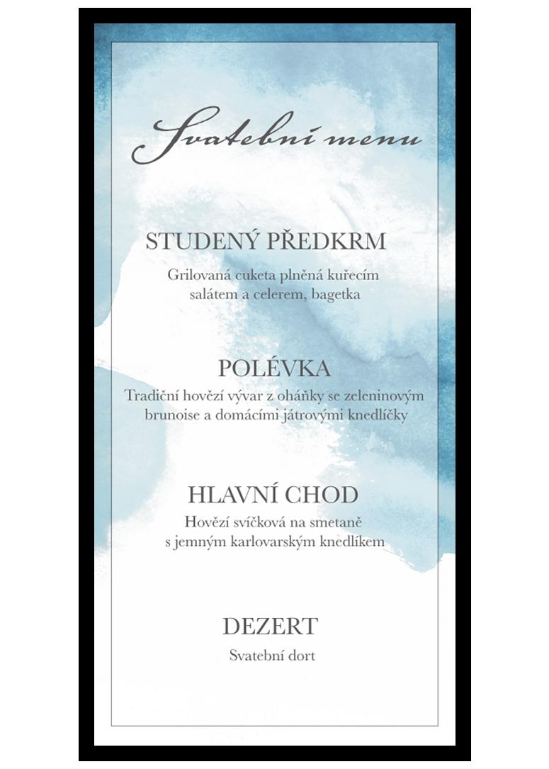 Svatební menu - Aquarelle