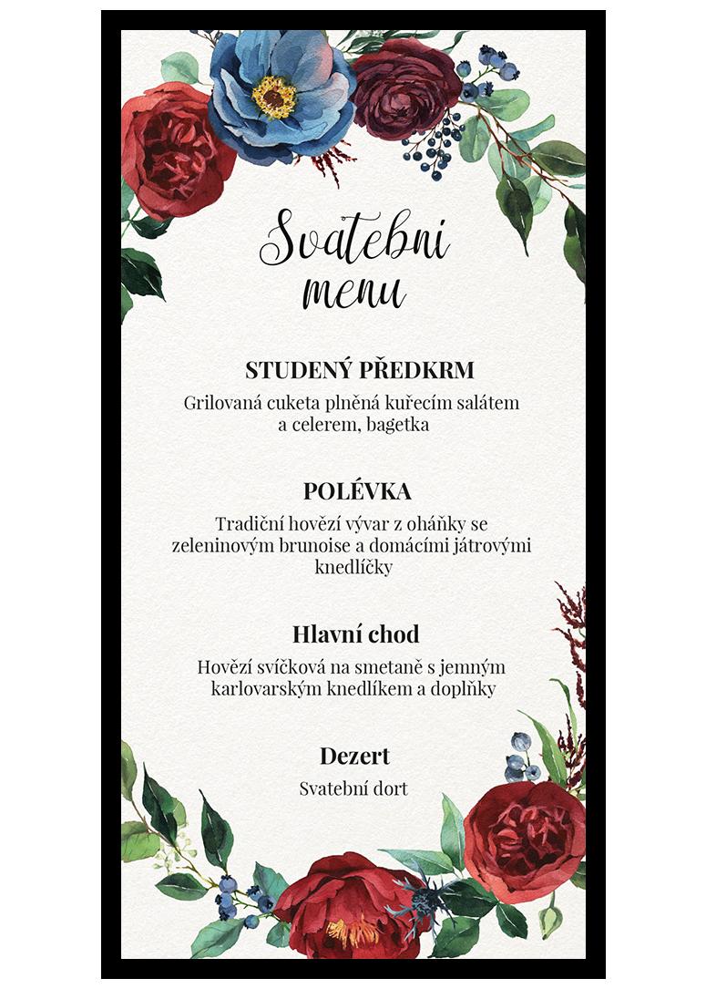 Svatební menu - Burgundy