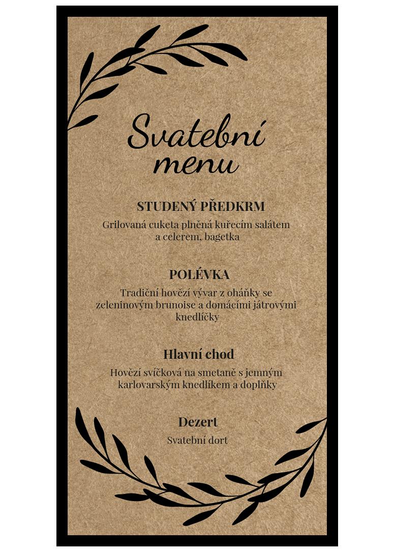 Svatební menu - Craft