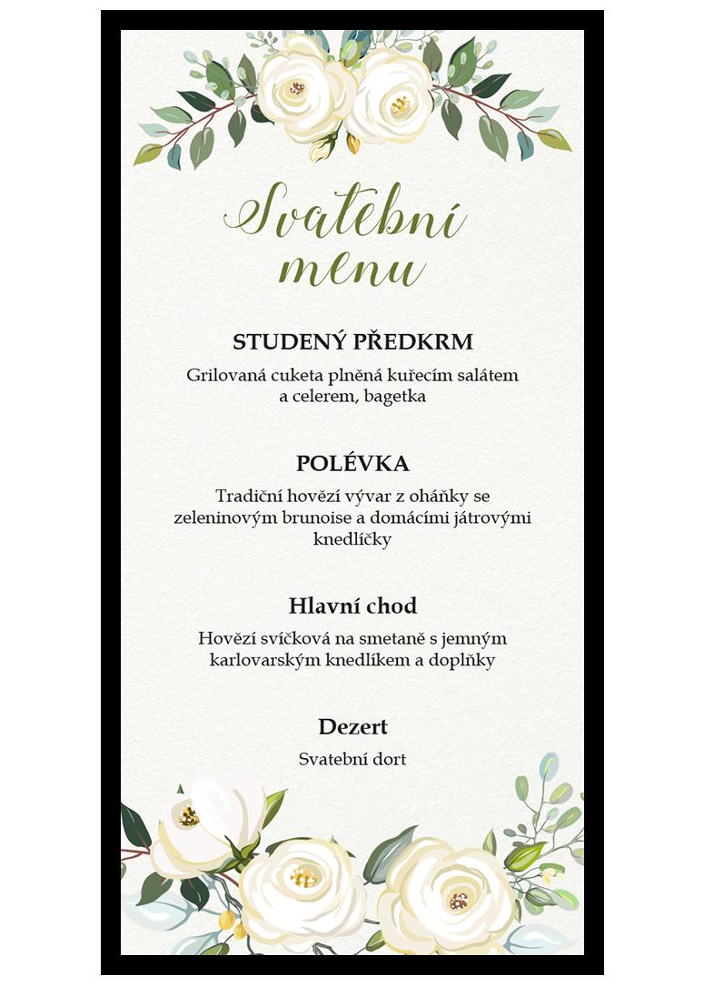 Svatební menu - Floral