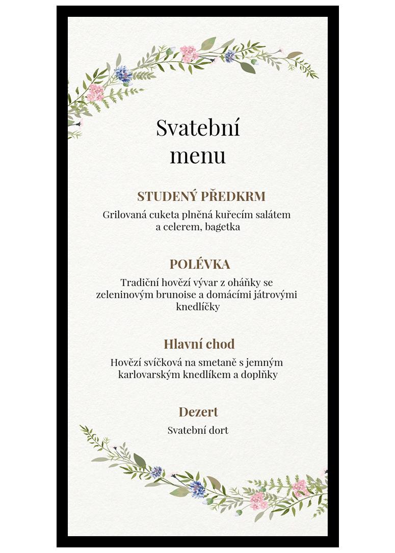 Svatební menu - Herbal