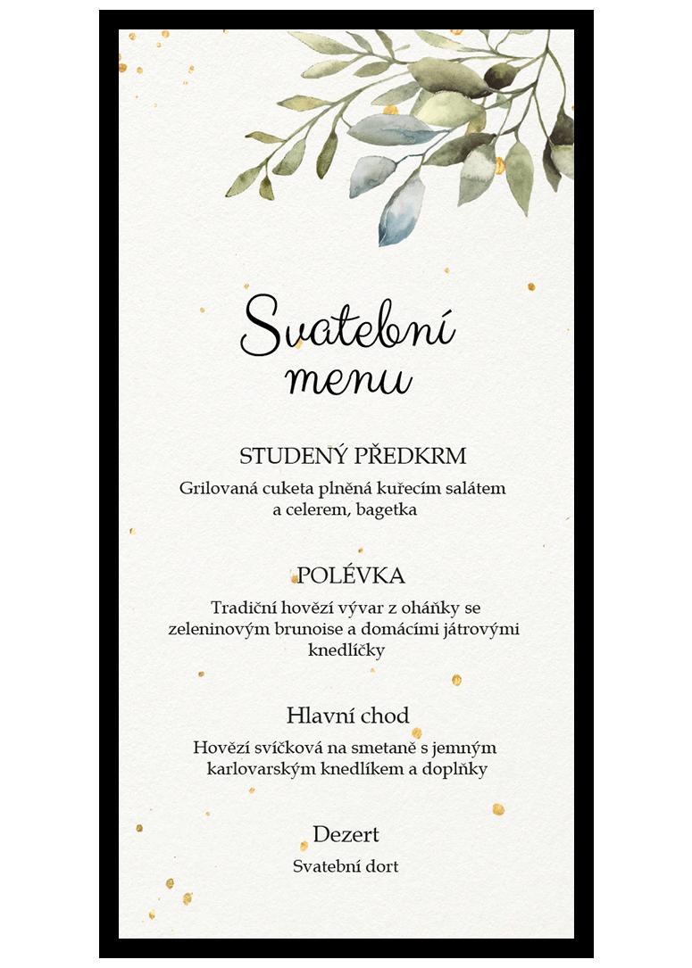 Svatební menu - Hexagon