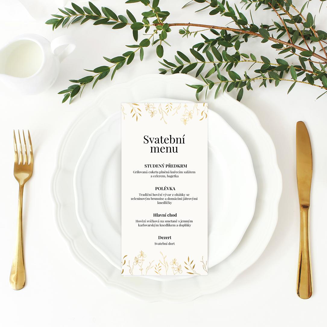 Svatební menu - Leaves 2