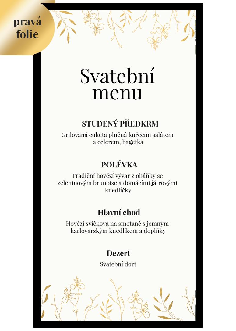 Svatební menu - Leaves