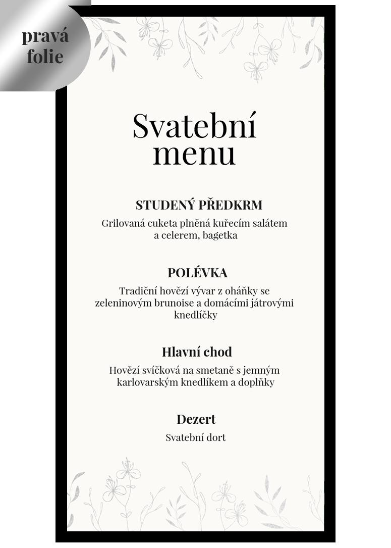 Svatební menu - Leaves 3