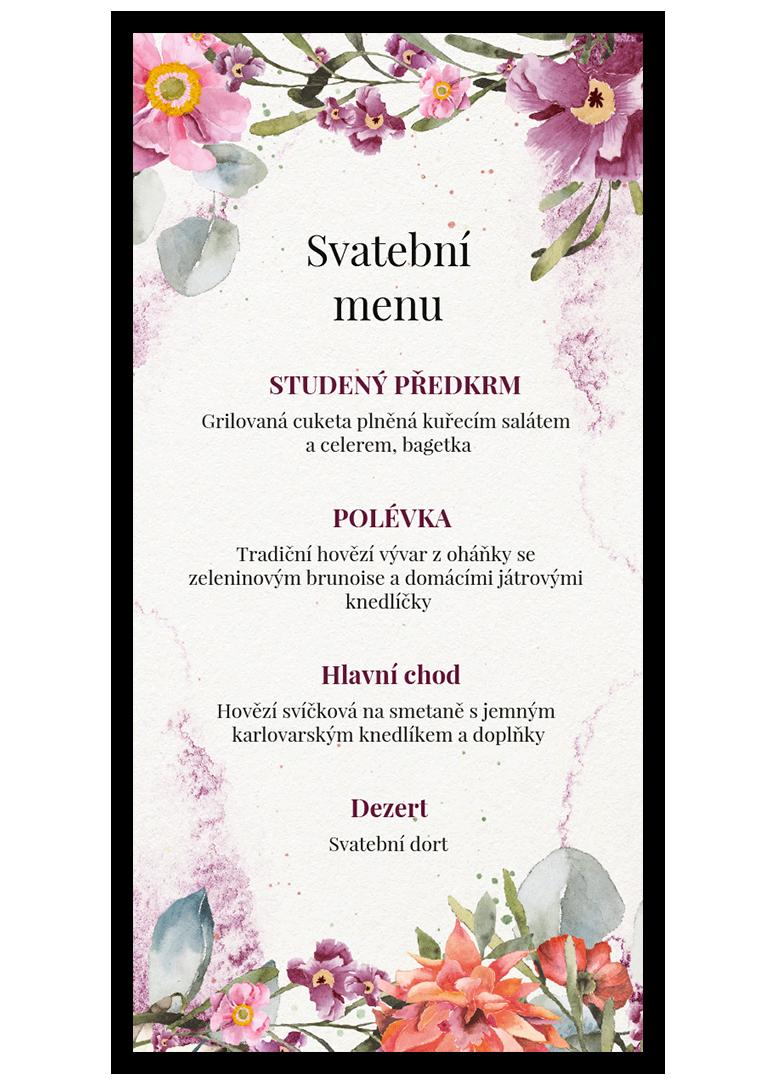 Svatební menu - Rosey