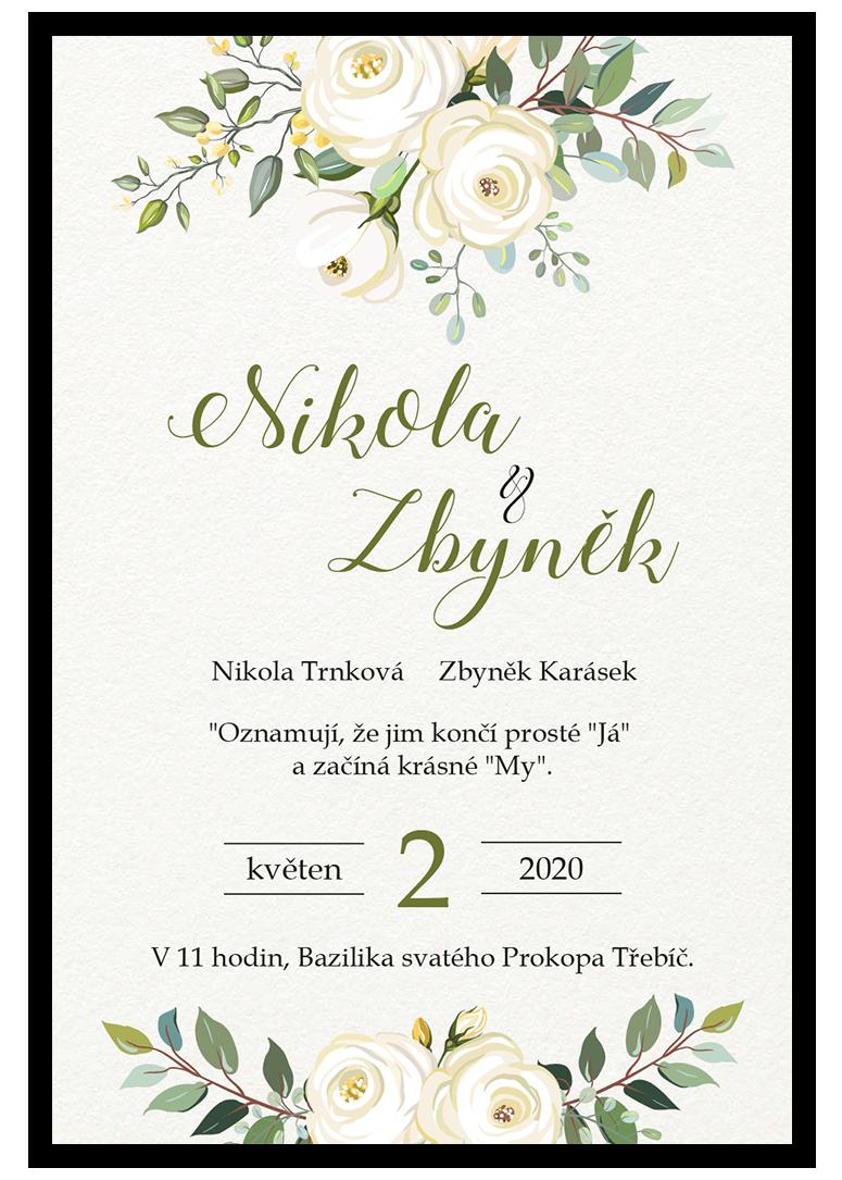 Svatební oznámení - Floral