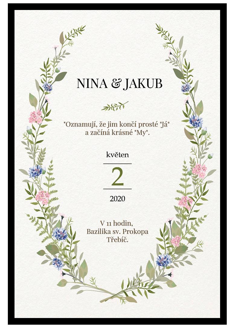 Svatební oznámení - Herbal