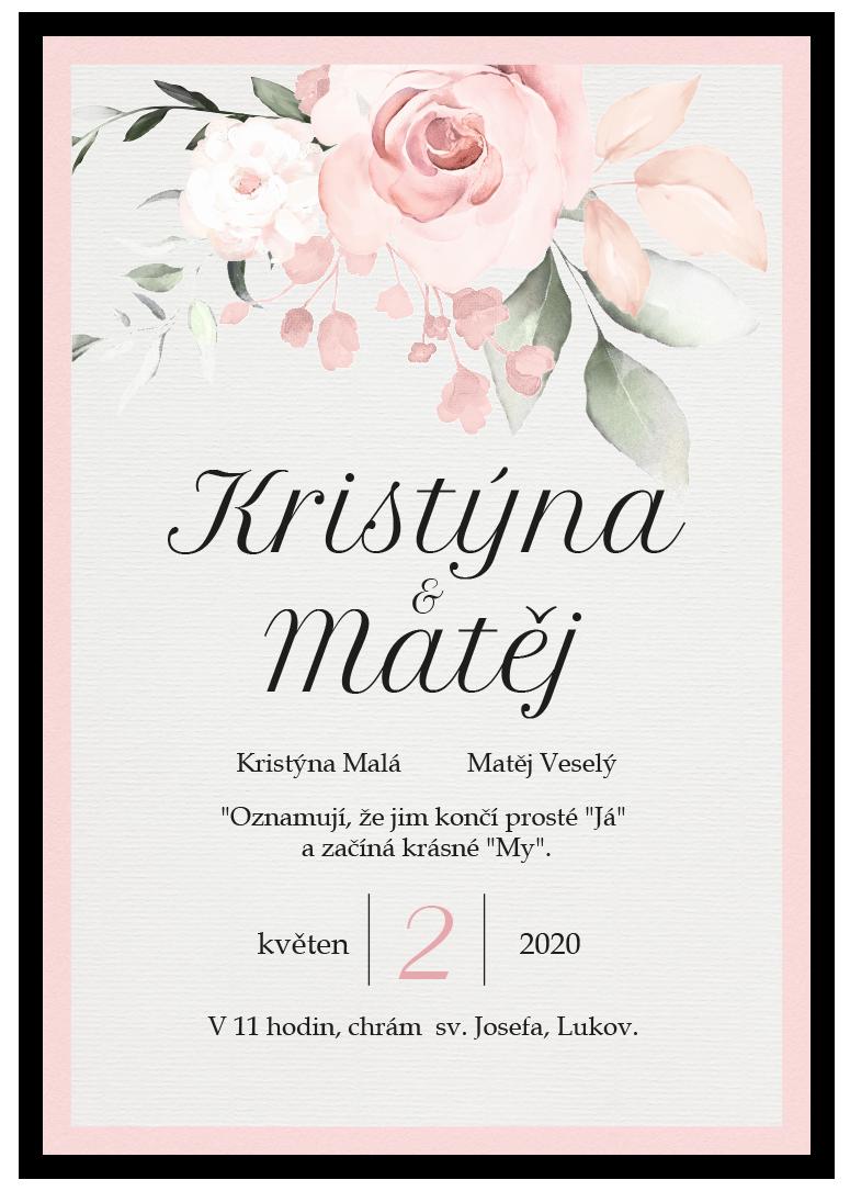 Svatební oznámení - Rose