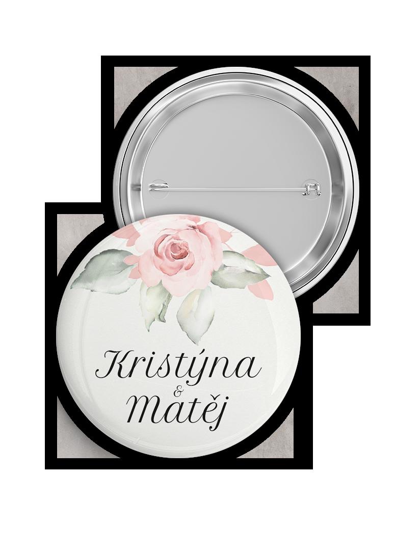Svatební placka - Rose