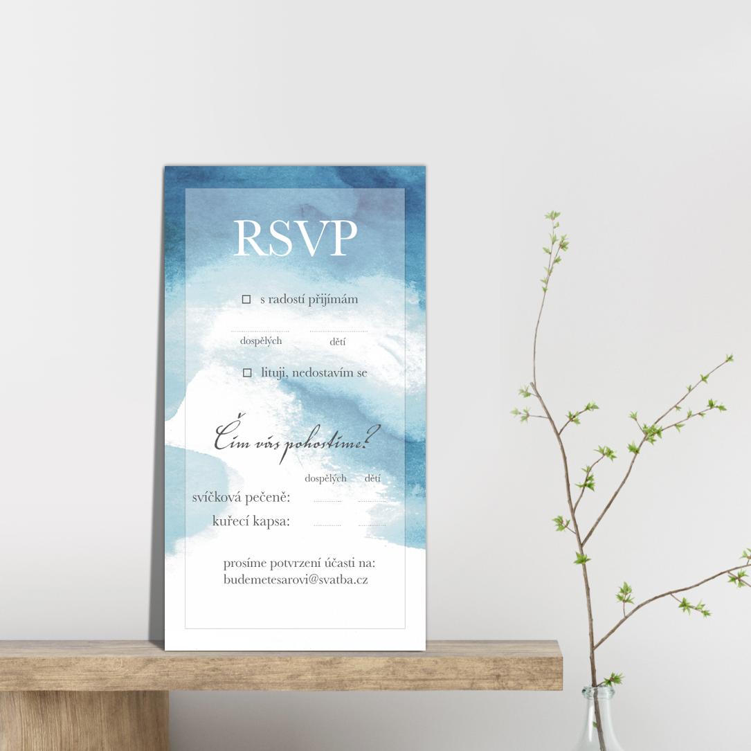RSVP - odpovědní kartička - Aquarelle  2