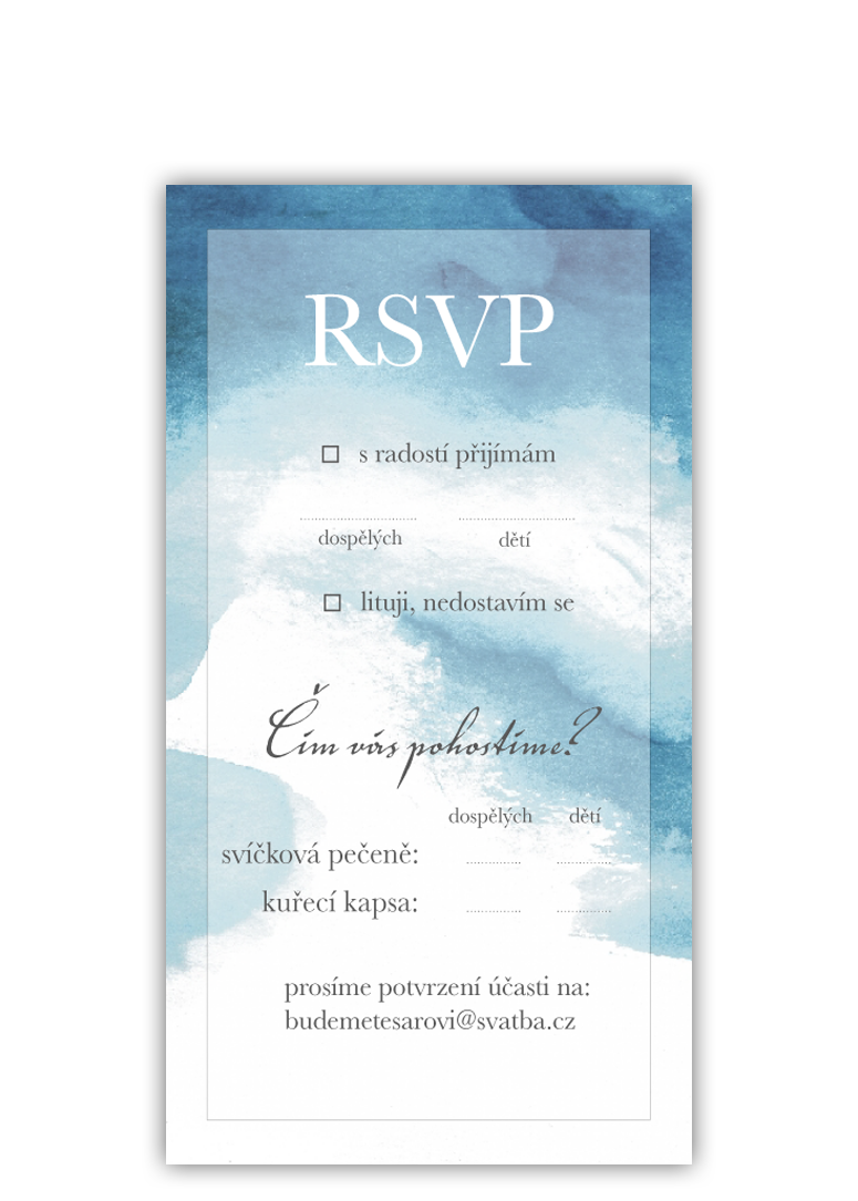 RSVP - odpovědní kartička - Aquarelle