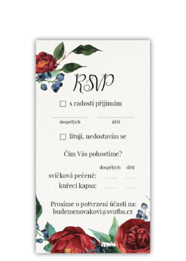 RSVP - Burgundy