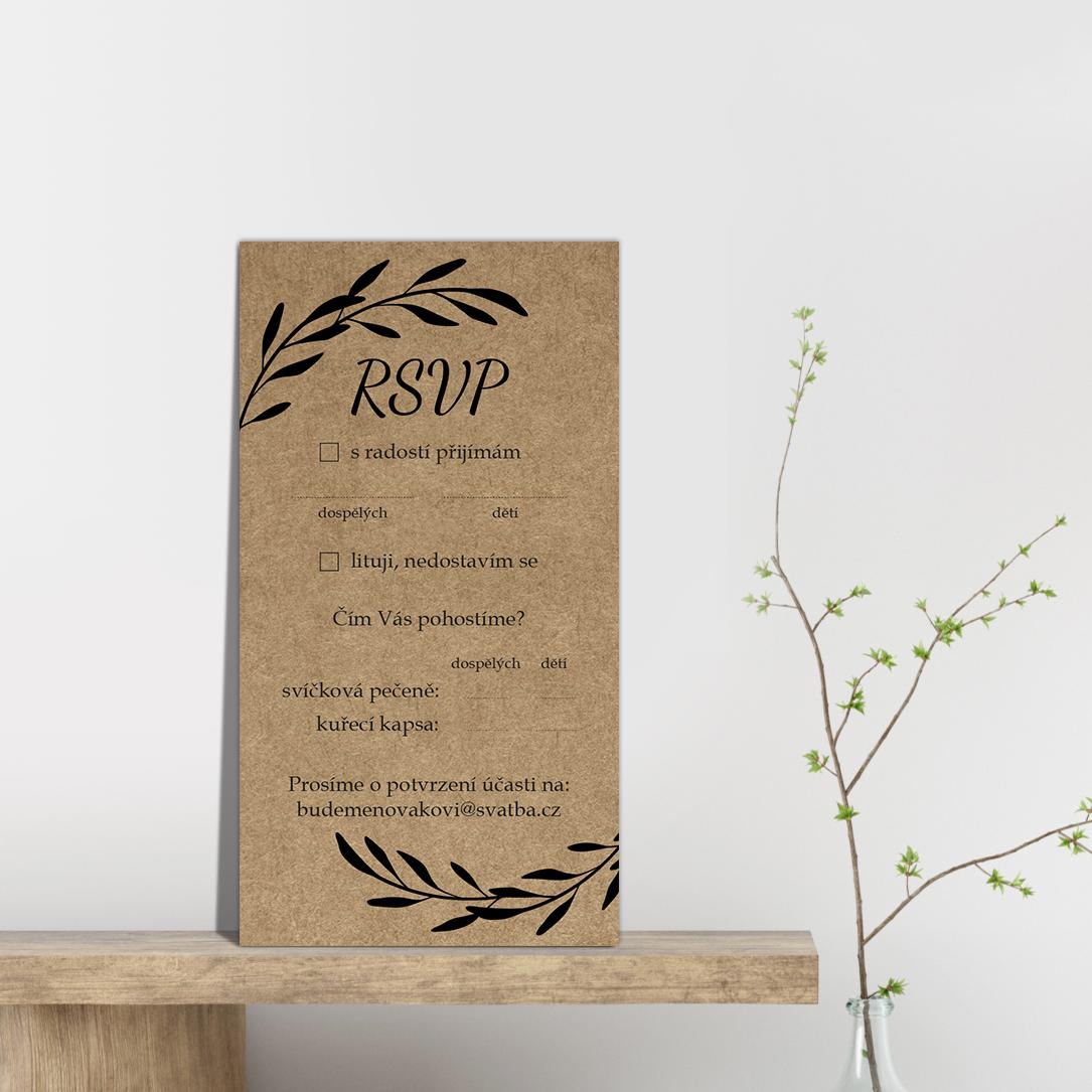 RSVP - odpovědní kartička - Craft 2