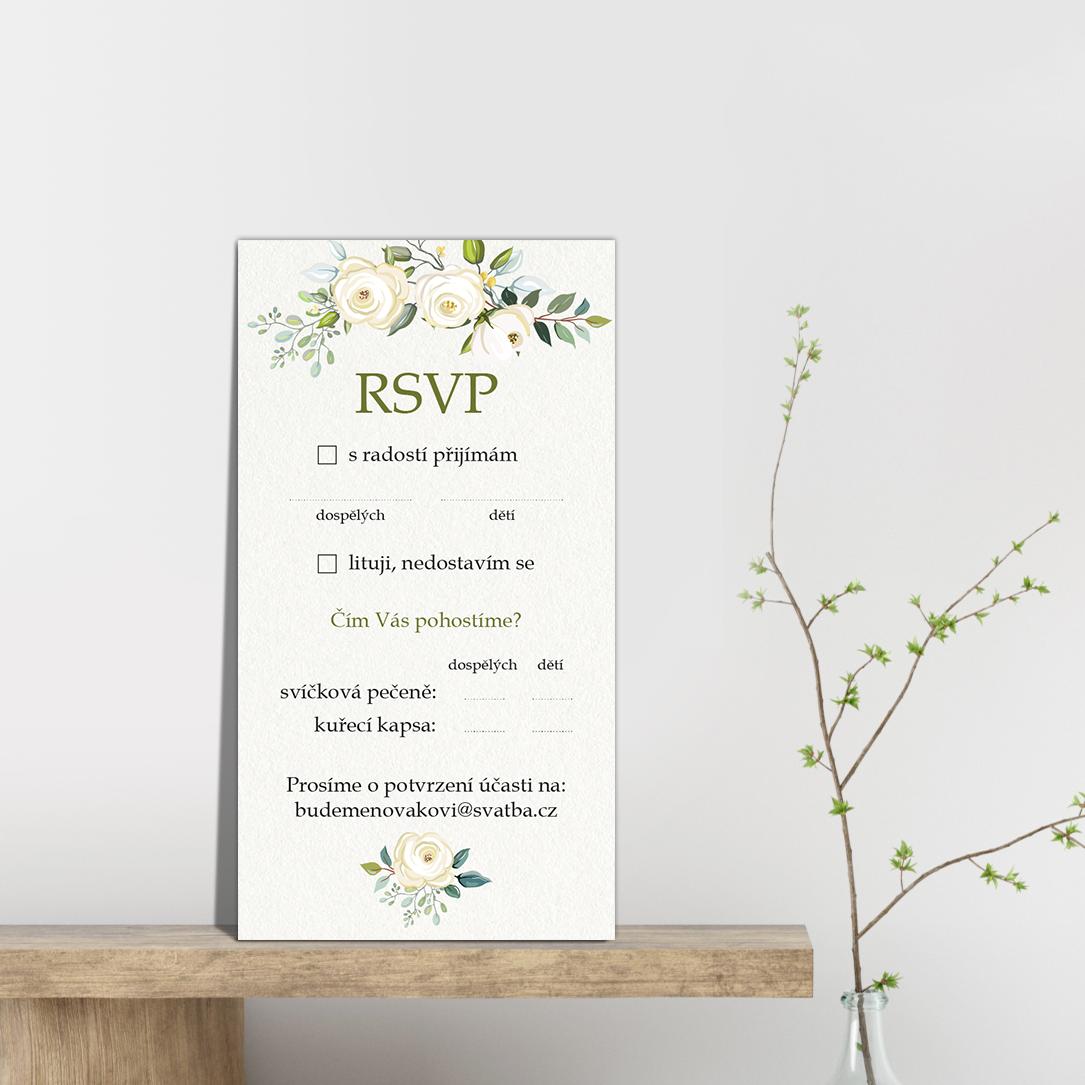 RSVP - odpovědní kartička - Floral 2
