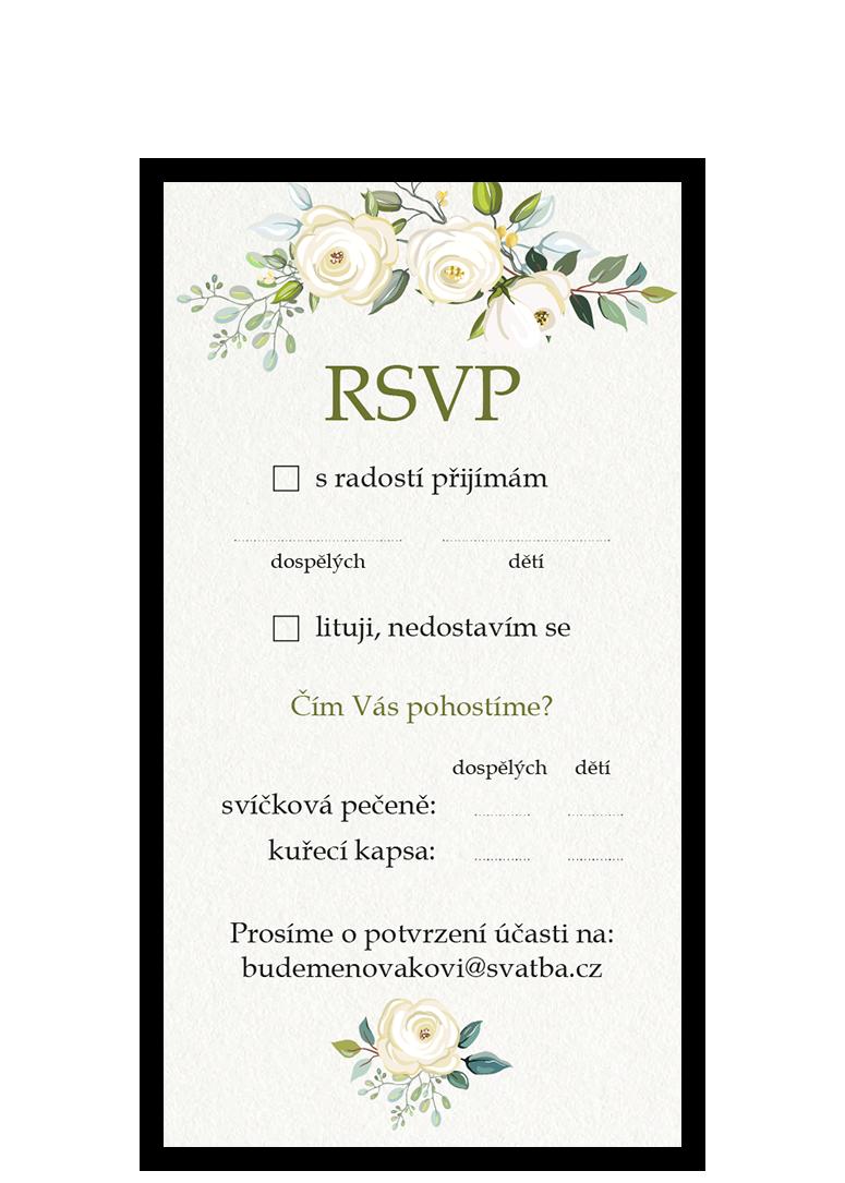 RSVP - odpovědní kartička - Floral
