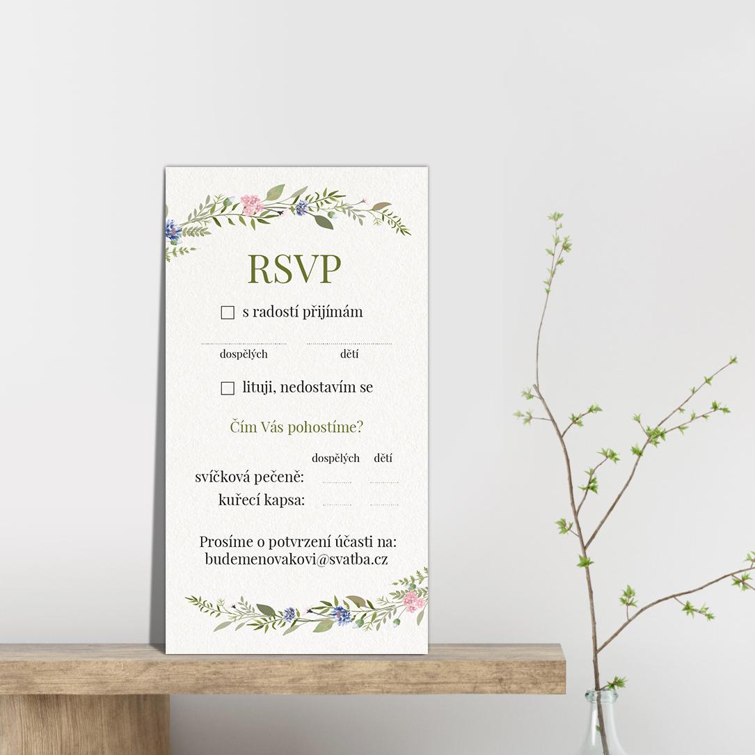 RSVP - odpovědní kartička - Herbal 2