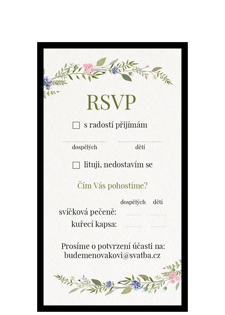 RSVP - odpovědní kartička - Herbal