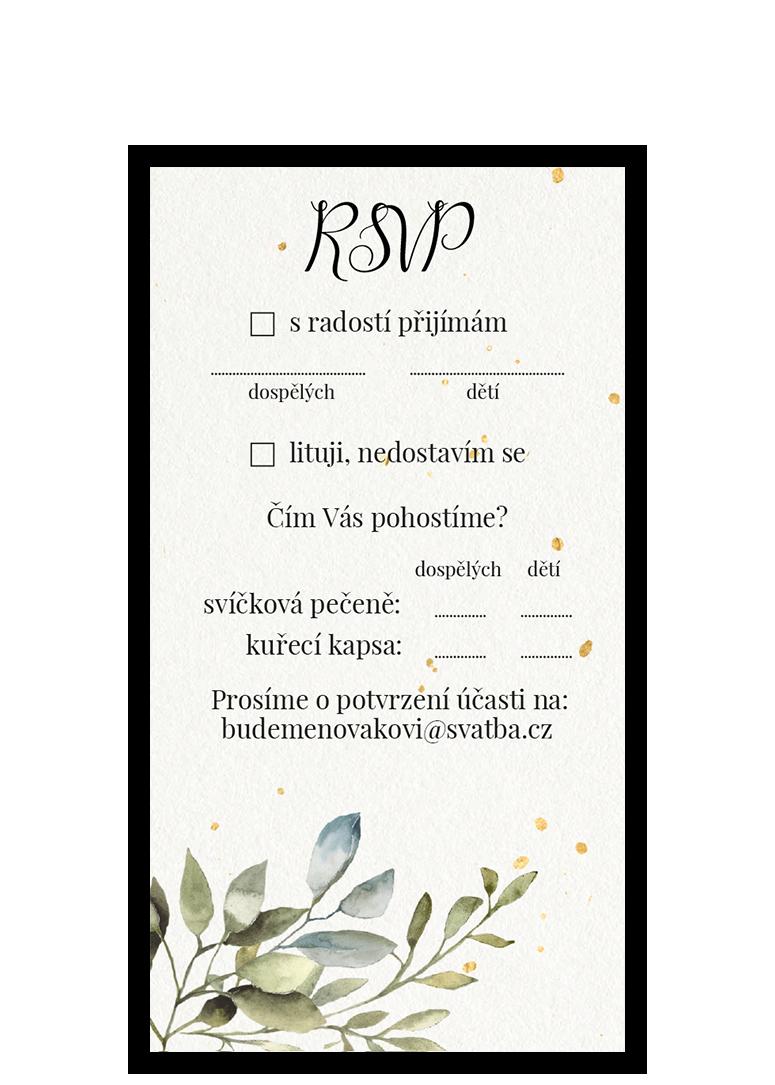 RSVP - odpovědní kartička - Hexagon