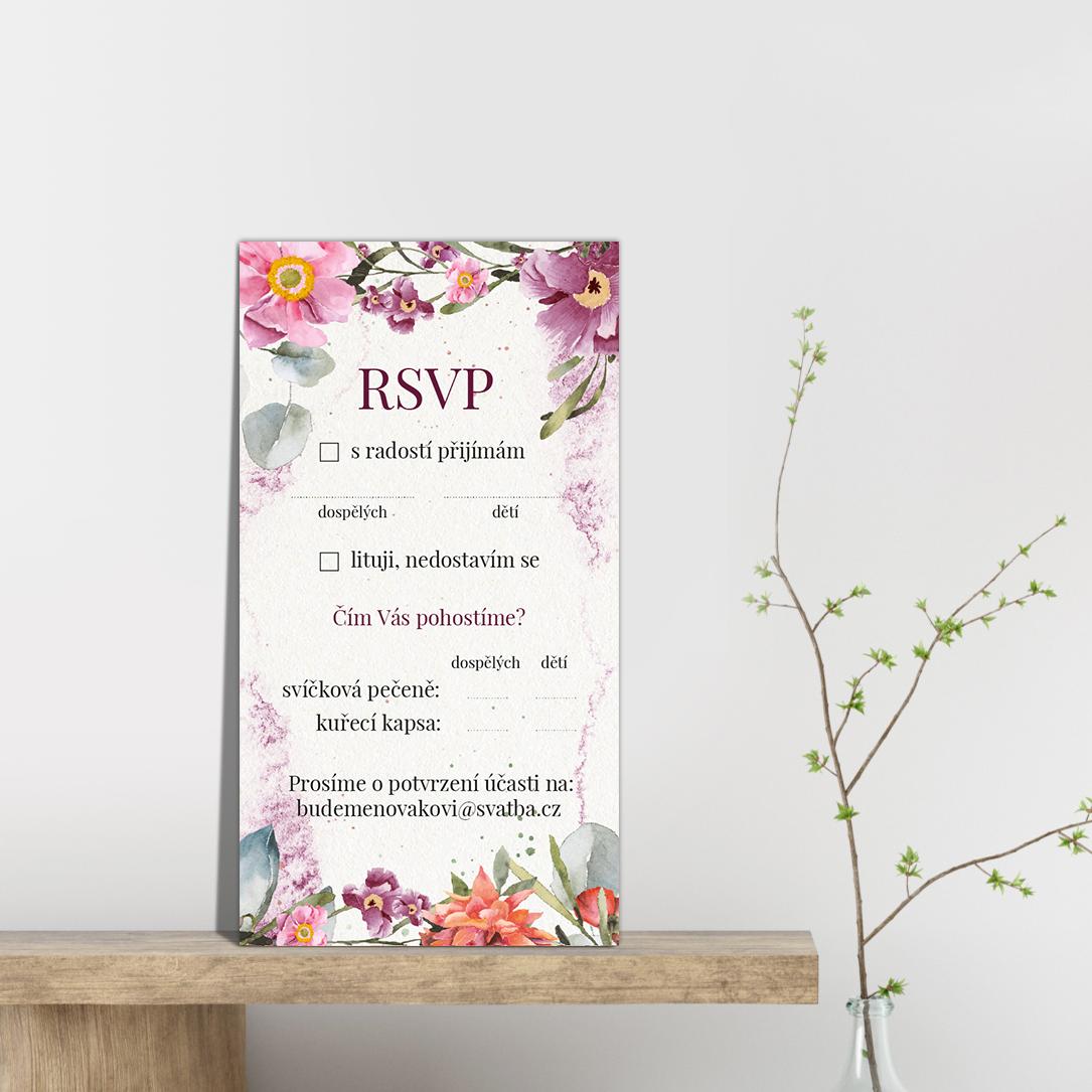 RSVP - odpovědní kartička - Rosey 2