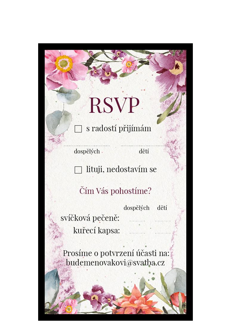 RSVP - odpovědní kartička - Rosey