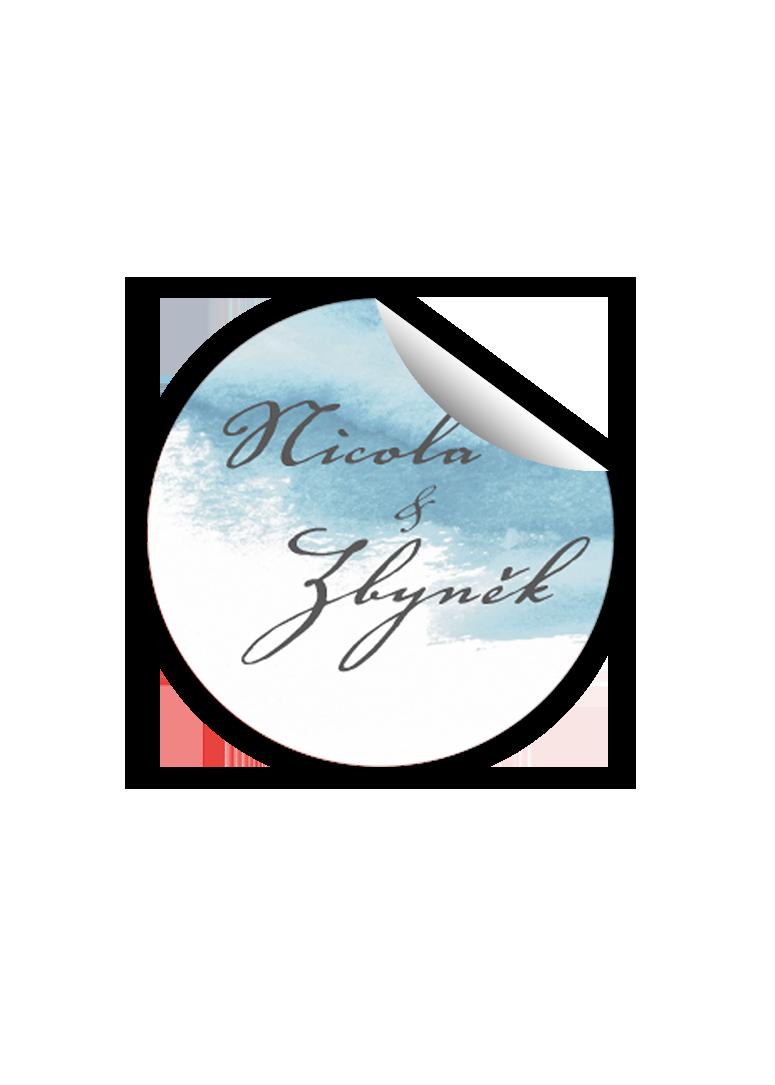 Svatební samolepka - Aquarelle