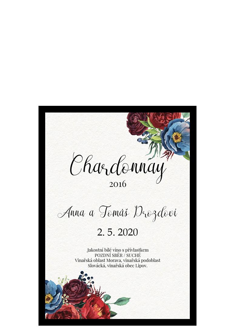 Etiketa - Burgundy