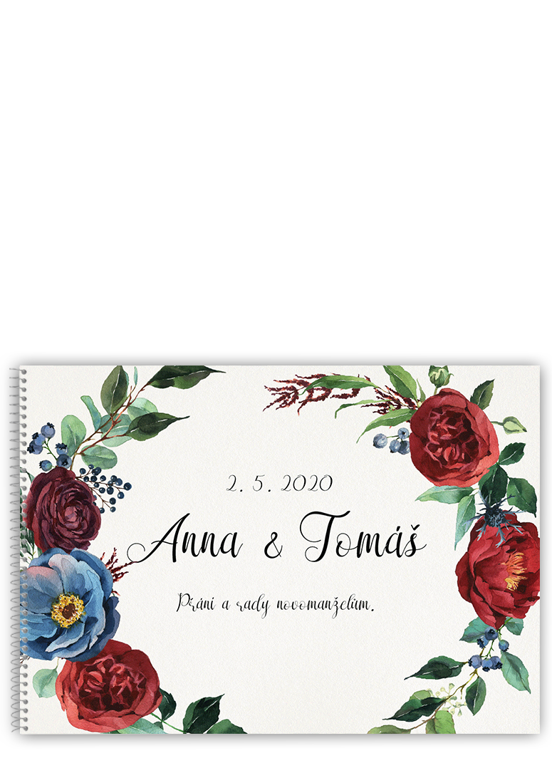 Svatební kniha - Burgundy